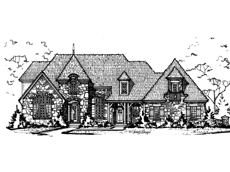 European House Plan Front Image of House -  026D-1911 | House Plans and More
