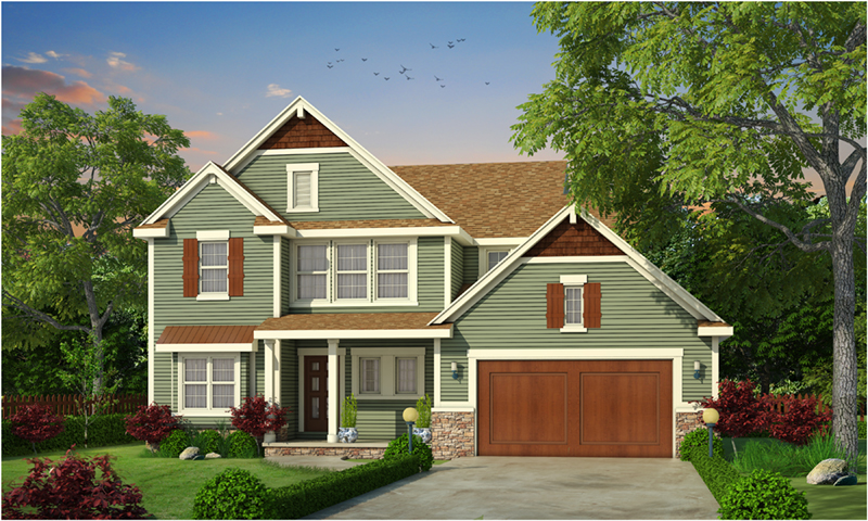 Craftsman House Plan Front Photo 01 - Cassidy Downs Craftsman Home 026D-1919 | House Plans and More
