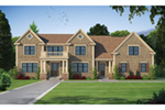 Cape Cod & New England House Plan Front of House 026D-1926