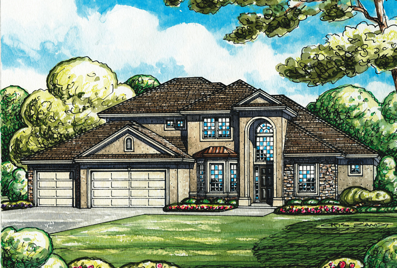 Contemporary House Plan Front of Home -  026D-1956 | House Plans and More