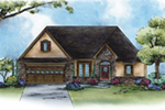 Ranch House Plan Front of Home -  026D-1959 | House Plans and More