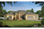 European House Plan Front of Home -  026D-1998 | House Plans and More