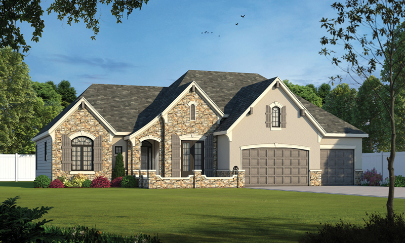 Ranch House Plan Front of Home -  026D-1999 | House Plans and More