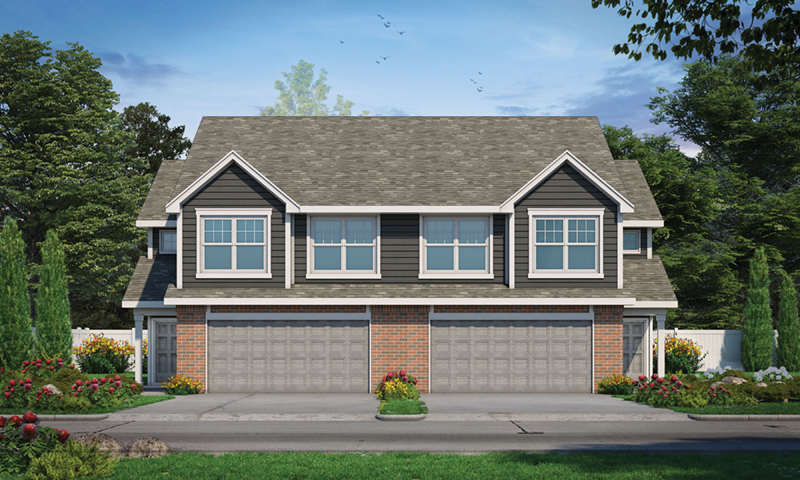Multi-Family House Plan Front of Home - Colbourne Springs Duplex 026D-2025 | House Plans and More