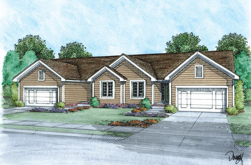 Multi-Family House Plan Front of Home - 026D-2115 | House Plans and More