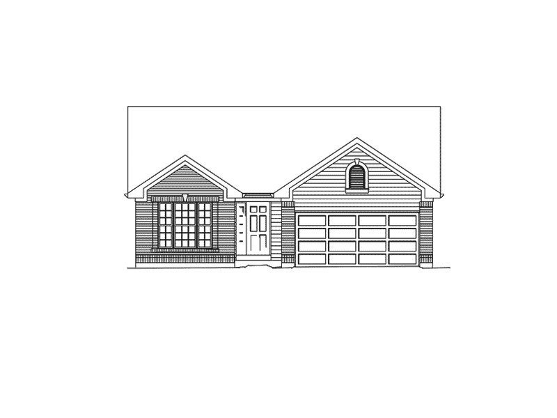 Traditional House Plan Front of Home - Vicsford Bluff Tudor Home 027D-0018 | House Plans and More