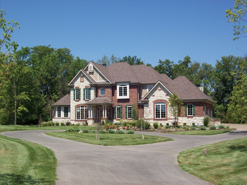 Arts & Crafts House Plan Front Photo 01 - Oak Leaf Manor Luxury Home 027S-0003 | House Plans and More