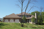 Arts & Crafts House Plan Side View Photo 01 - Oak Leaf Manor Luxury Home 027S-0003 | House Plans and More