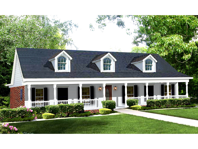 Southern House Plan Front Image - Blythewood Place Acadian Home 028D-0008 | House Plans and More