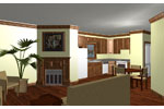 Country House Plan Kitchen Photo 01 - Belle Creek Ranch Home 028D-0023 | House Plans and More