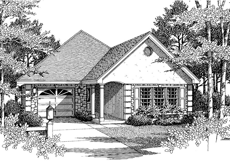 Contemporary House Plan Front Image of House - Fairmont Place Narrow Lot Home 028D-0034 | House Plans and More