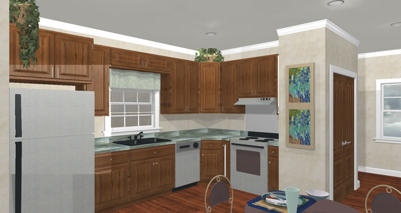 Vacation House Plan Kitchen Photo 01 - Alcott Southern Home 028D-0051 | House Plans and More