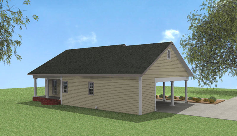 Vacation House Plan Color Image of House - Alcott Southern Home 028D-0051 | House Plans and More