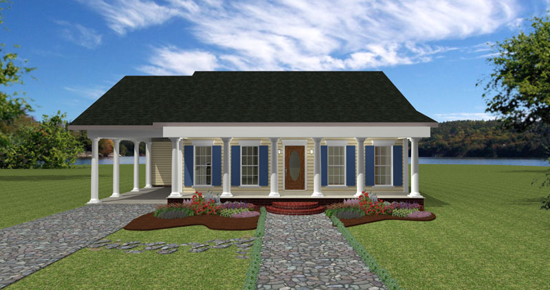 Neoclassical Home Plan Front Photo 01 - Gilford Park Cottage Home 028D-0058 | House Plans and More
