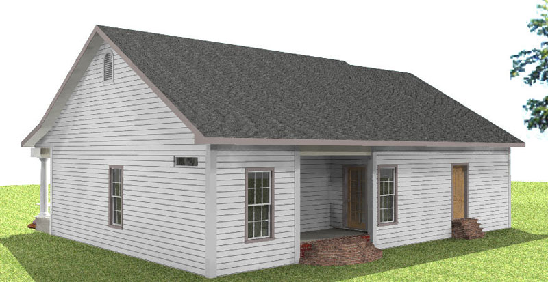 Cabin & Cottage House Plan Side View Photo 01 - Cedar Run Southern Style Home 028D-0059 | House Plans and More