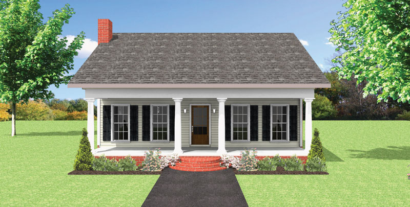 Cabin & Cottage House Plan Front of Home - Emma Cottage Home 028D-0086 | House Plans and More