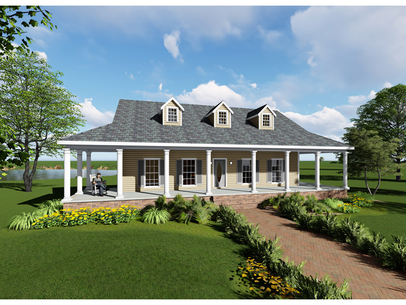 Ranch House Plan Front Photo 02 - 028D-0095 | House Plans and More