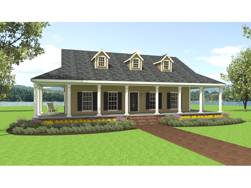 Ranch House Plan Front Photo 03 - 028D-0095 | House Plans and More