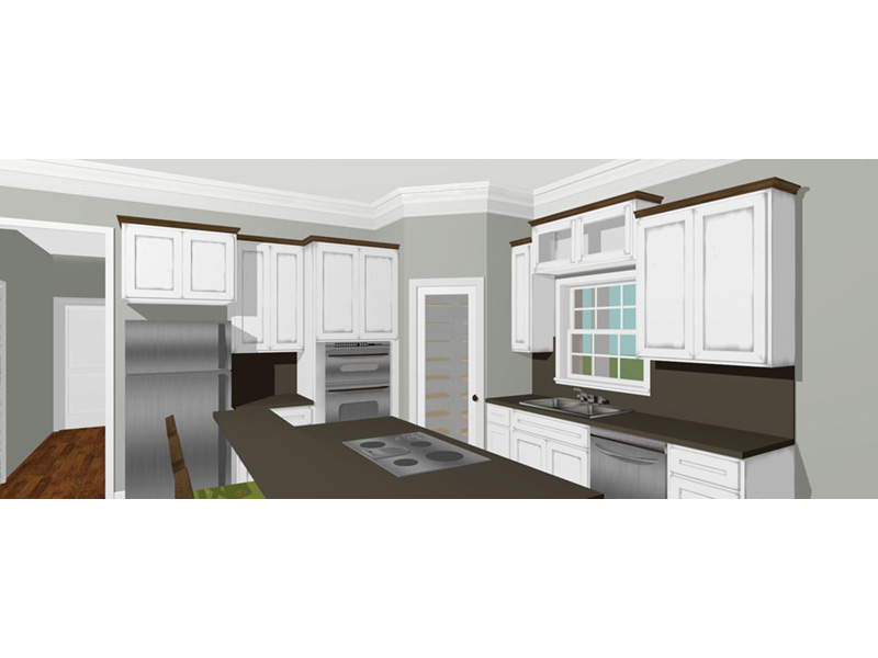 Ranch House Plan Kitchen Photo 02 - 028D-0095 | House Plans and More