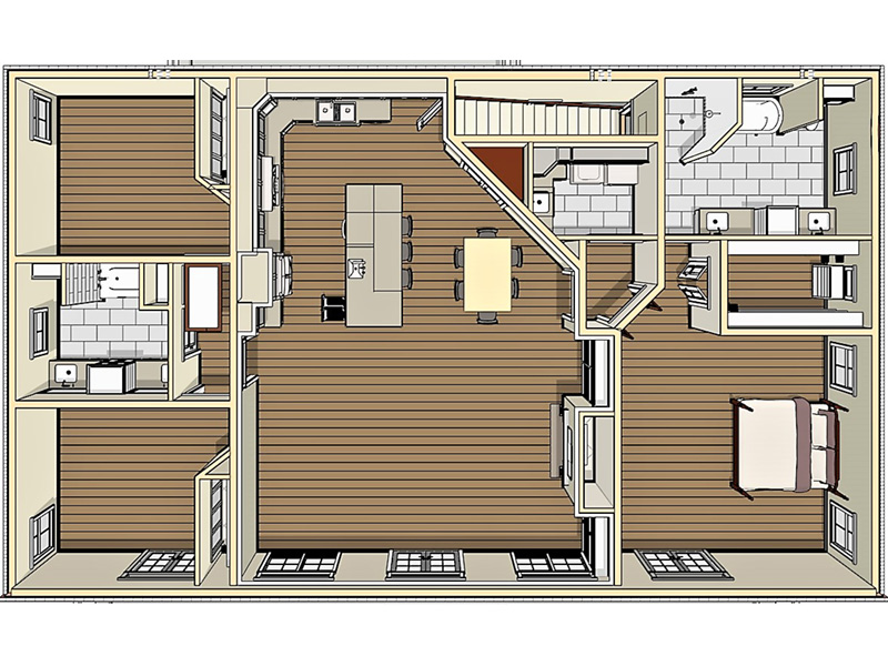 Craftsman House Plan Basement Photo 01 - 028D-0104 | House Plans and More