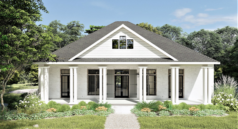 Craftsman House Plan Front of Home - 028D-0104 | House Plans and More