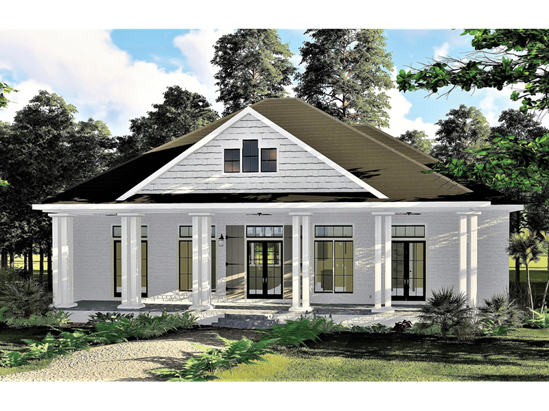 Craftsman House Plan Front Photo 01 - 028D-0104 | House Plans and More