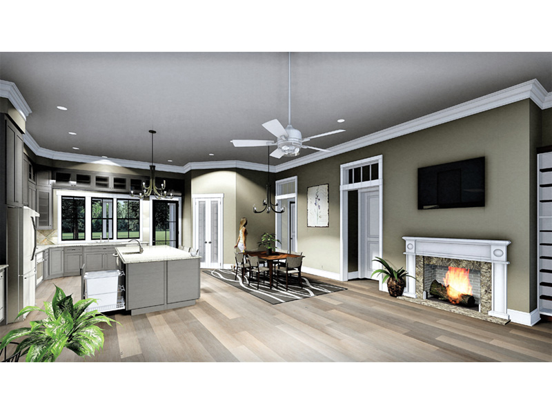 Craftsman House Plan Kitchen Photo 02 - 028D-0104 | House Plans and More