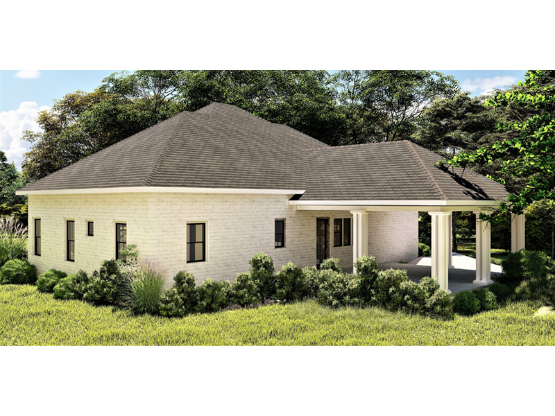 Craftsman House Plan Rear Photo 01 - 028D-0104 | House Plans and More