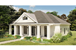Craftsman House Plan Side View Photo - 028D-0104   House Plans and More