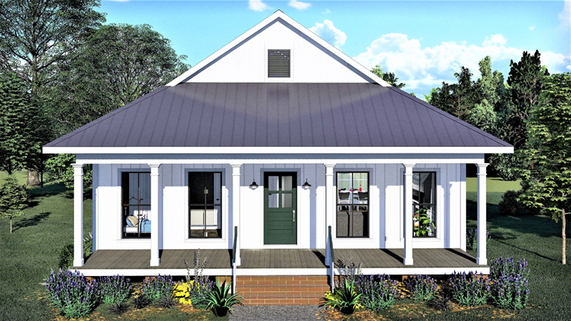 Waterfront House Plan Front of Home - 028D-0108 | House Plans and More