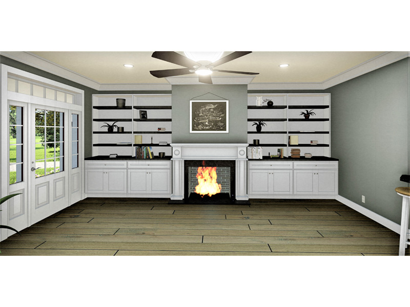 Cape Cod & New England House Plan Fireplace Photo 01 - 028D-0112 | House Plans and More