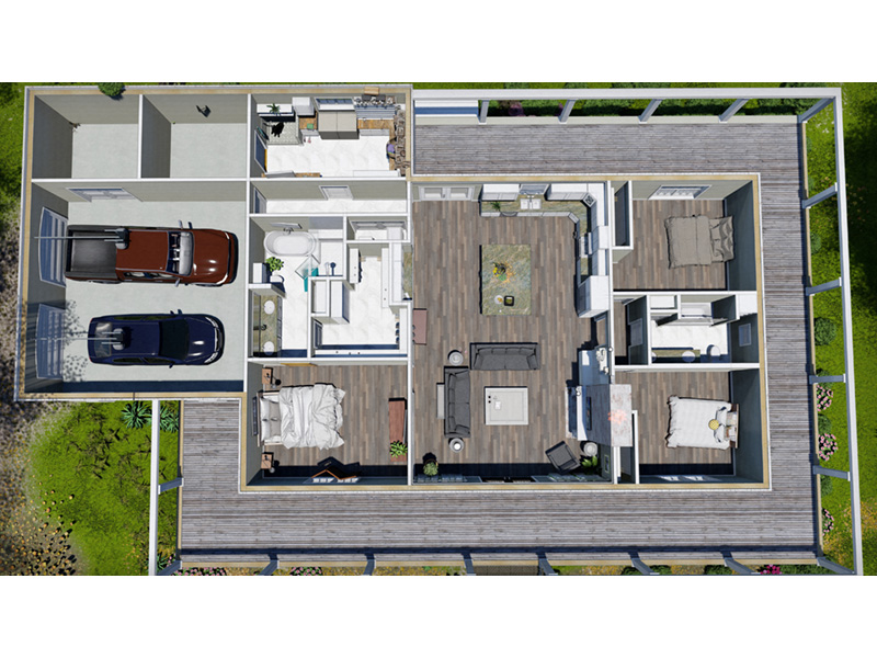 European House Plan Garage Photo - 028D-0114   House Plans and More