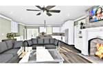 European House Plan Great Room Photo 01 - 028D-0114   House Plans and More