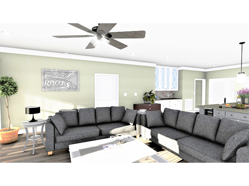 European House Plan Great Room Photo 02 - 028D-0114   House Plans and More