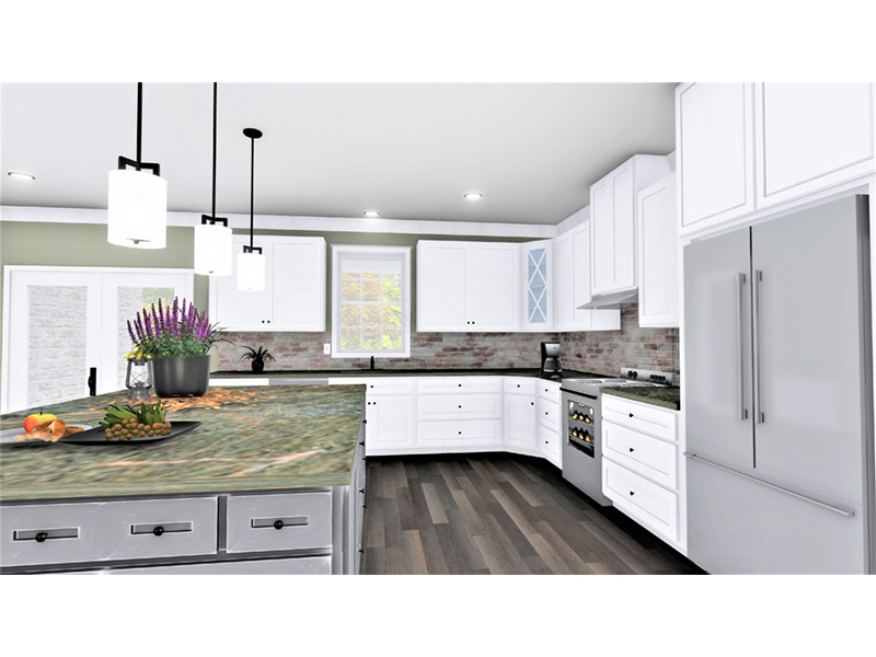 European House Plan Kitchen Photo 01 - 028D-0114   House Plans and More