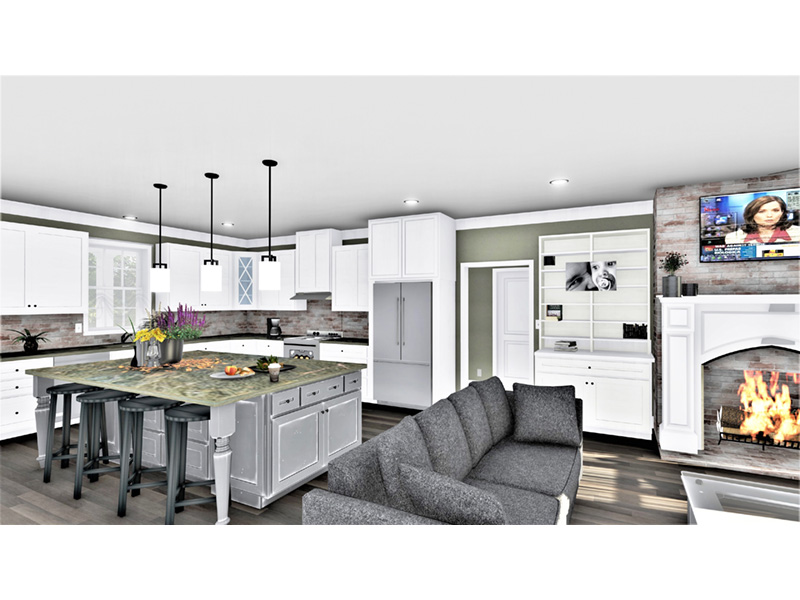 European House Plan Kitchen Photo 04 - 028D-0114   House Plans and More