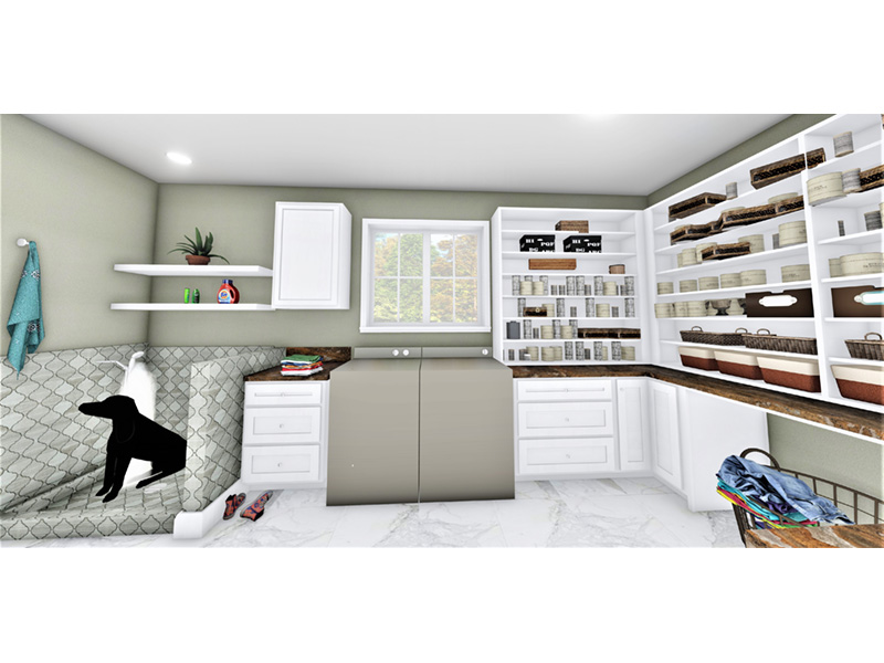 European House Plan Laundry Room Photo - 028D-0114   House Plans and More