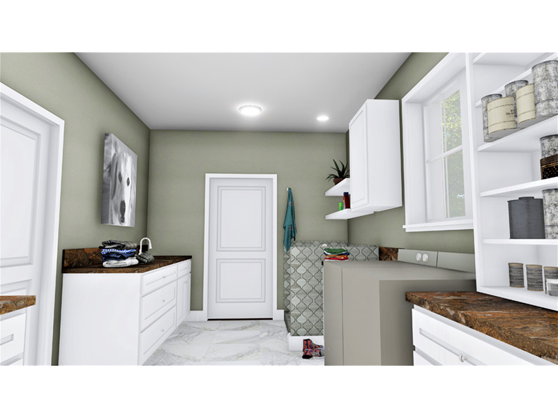 European House Plan Laundry Room Photo 02 - 028D-0114   House Plans and More