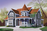 Country House Plan Front Image - Glendale Cove Victorian Home 032D-0048 | House Plans and More