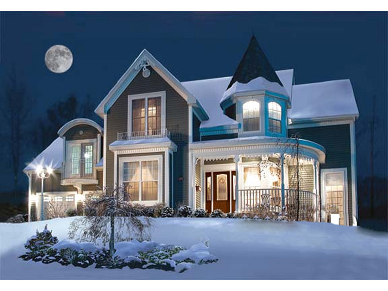 Country House Plan Front Photo 01 - Glendale Cove Victorian Home 032D-0048 | House Plans and More