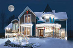 Country House Plan Front Photo 02 - Glendale Cove Victorian Home 032D-0048 | House Plans and More