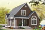 Arts & Crafts House Plan Front Image - Costello Cottage Home 032D-0458 | House Plans and More