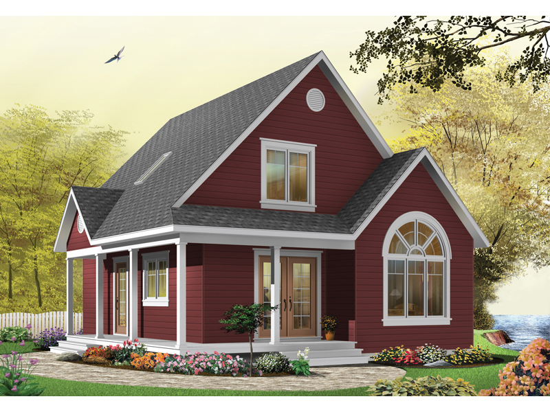 Arts & Crafts House Plan Front Image of House - Costello Cottage Home 032D-0458 | House Plans and More