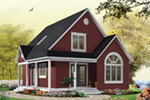 Arts & Crafts House Plan Front Photo 04 - Costello Cottage Home 032D-0458 | House Plans and More