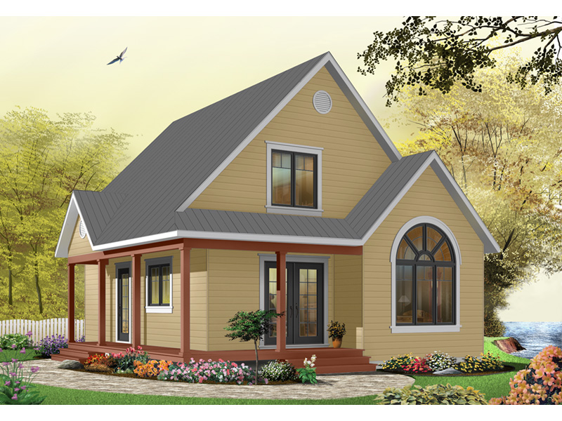 Arts & Crafts House Plan Front Photo 07 - Costello Cottage Home 032D-0458 | House Plans and More