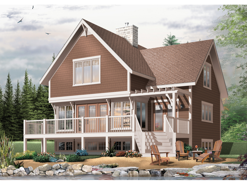 Craftsman House Plan Front Image - Country Bend Cottage Lake Home 032D-0532 | House Plans and More