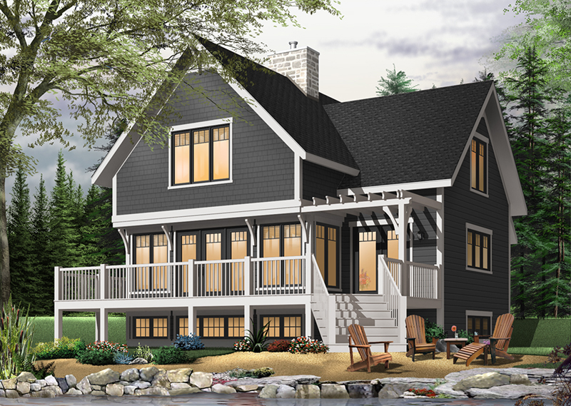 Country Style Lake Cottage Perfect For Vacation House