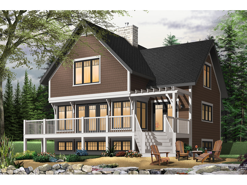 Craftsman House Plan Front Photo 01 - Country Bend Cottage Lake Home 032D-0532 | House Plans and More