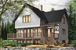 Craftsman House Plan Front Photo 02 - Country Bend Cottage Lake Home 032D-0532 | House Plans and More