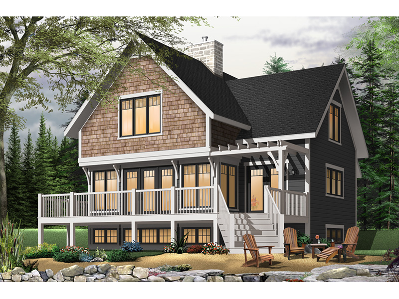 Craftsman House Plan Front Photo 03 - Country Bend Cottage Lake Home 032D-0532 | House Plans and More